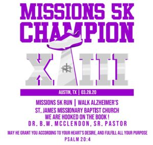 Missions 5K - VIRTUAL